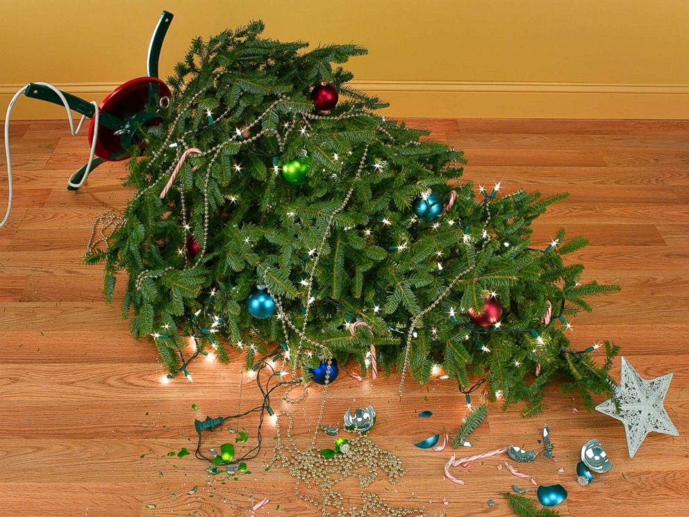 PHOTO: An undated stock photo depicts a fallen Christmas tree.