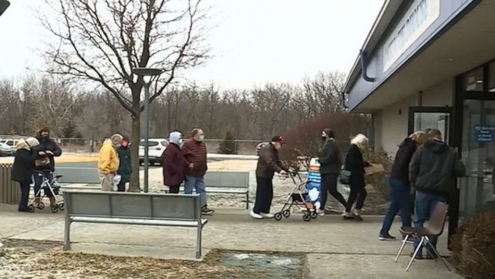 County apologizes for seniors having to wait outside in cold for COVID-19 vaccine