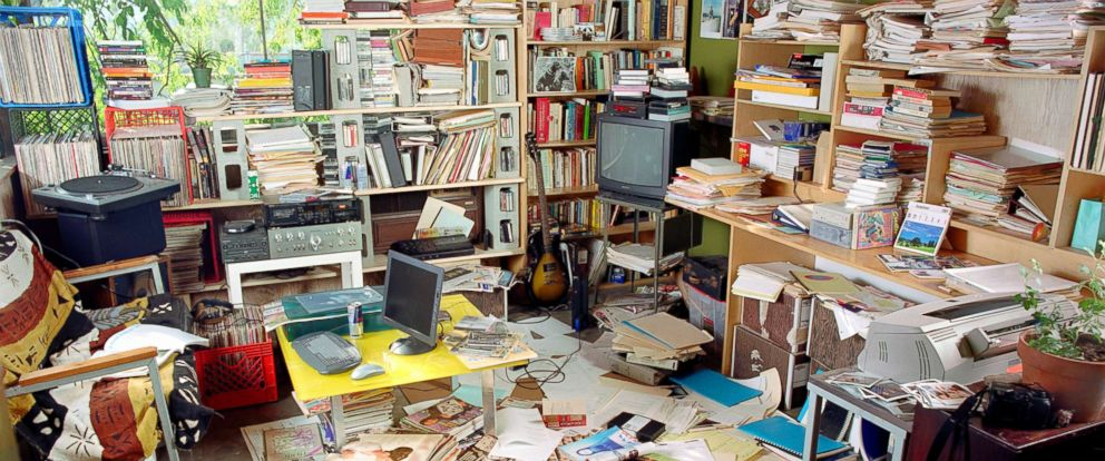 PHOTO: A cluttered room is depicted in this stock photo.