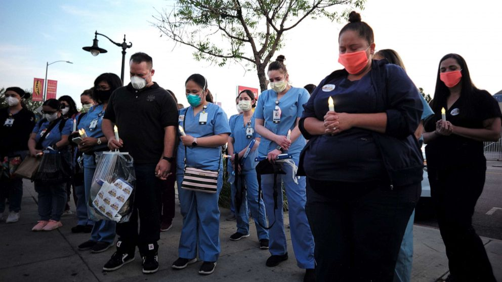 Nearly 600 US health care workers have died of COVID-19 ...