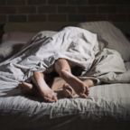 A couple is seen in bed in this undated stock photo.