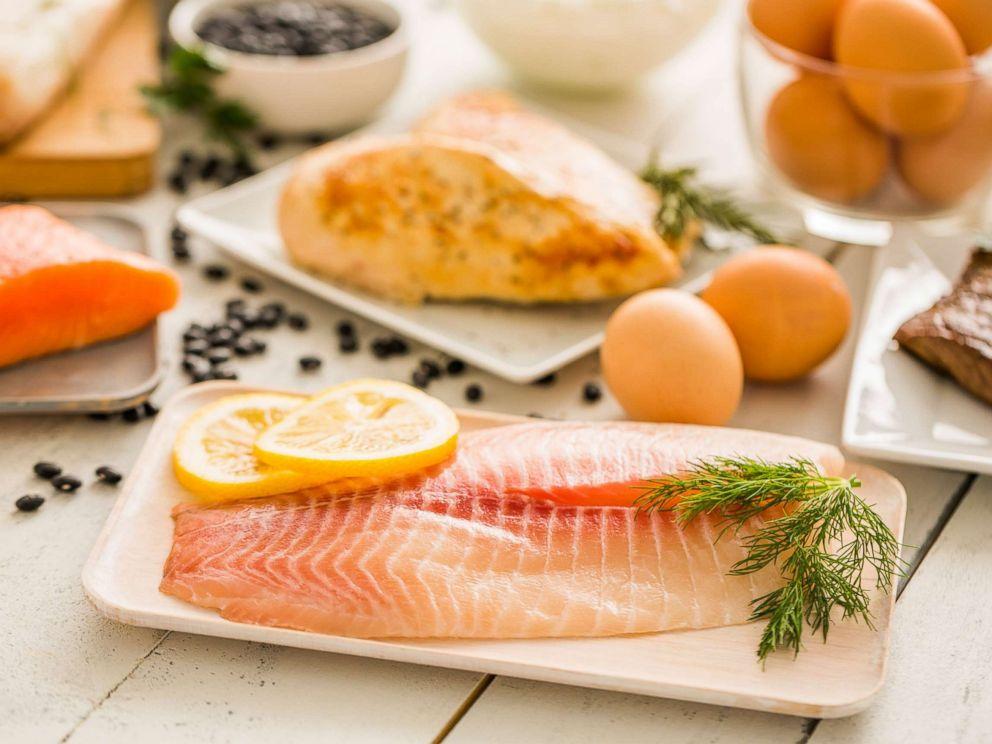 PHOTO: Fish, eggs and poultry are pictured in an undated stock photo.