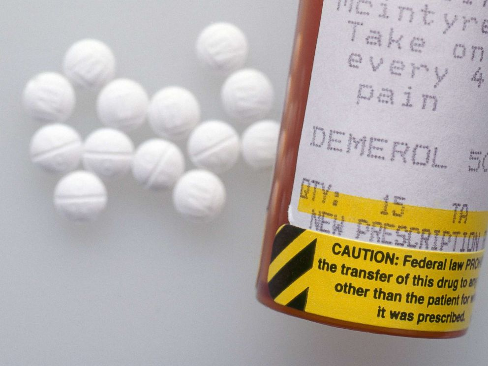 PHOTO: Demerol (Pethidine), an opioid analgesic used in the treatment of moderate to severe pain is pictured in an undated stock photo.