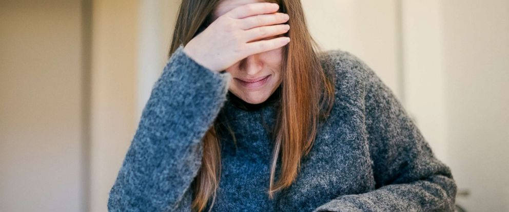 PHOTO: A woman sobs in this stock photo.