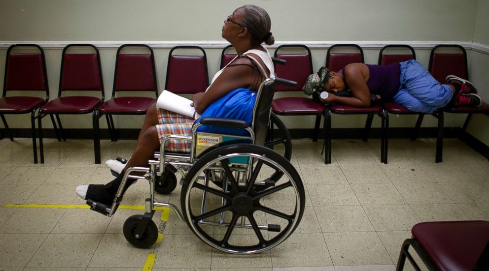 PHOTO: A diabetes patient waits in the waiting room at a clinic in south Los Angeles, Aug. 7, 2012.