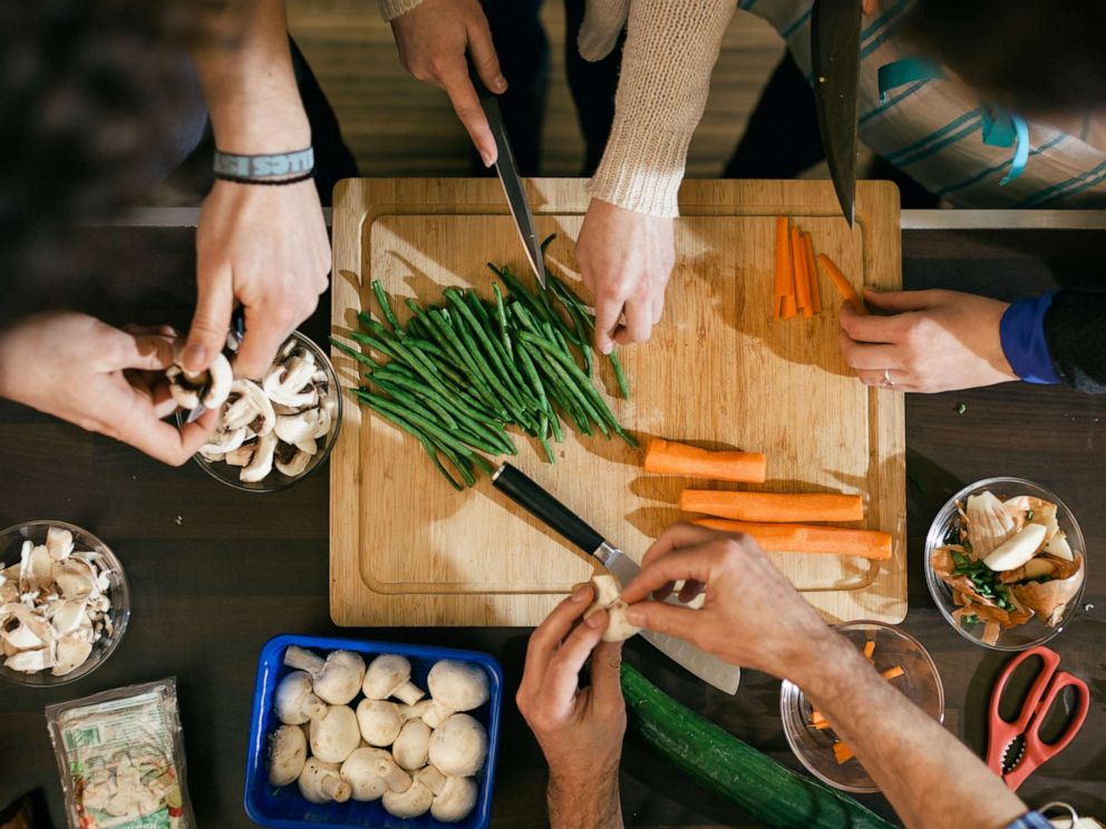 PHOTO: People prepare food in this undated stock image.