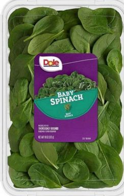 PHOTO: Dole Fresh Vegetables, Inc. is voluntarily recalling a limited number of cases of baby spinach.