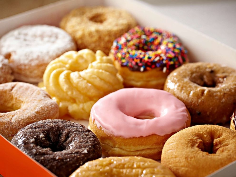 PHOTO: Box of donuts.