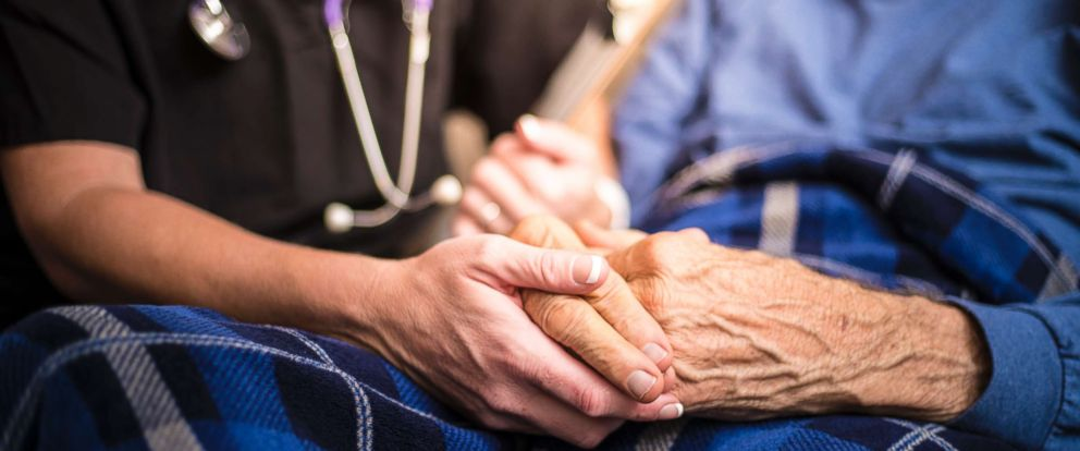PHOTO: An undated stock photo of a healthcare worker with an elderly patient.