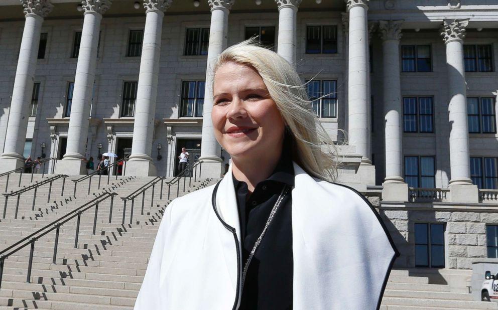 Elizabeth Smart arrives for a news conference, Sept. 13, 2018, in Salt Lake City.