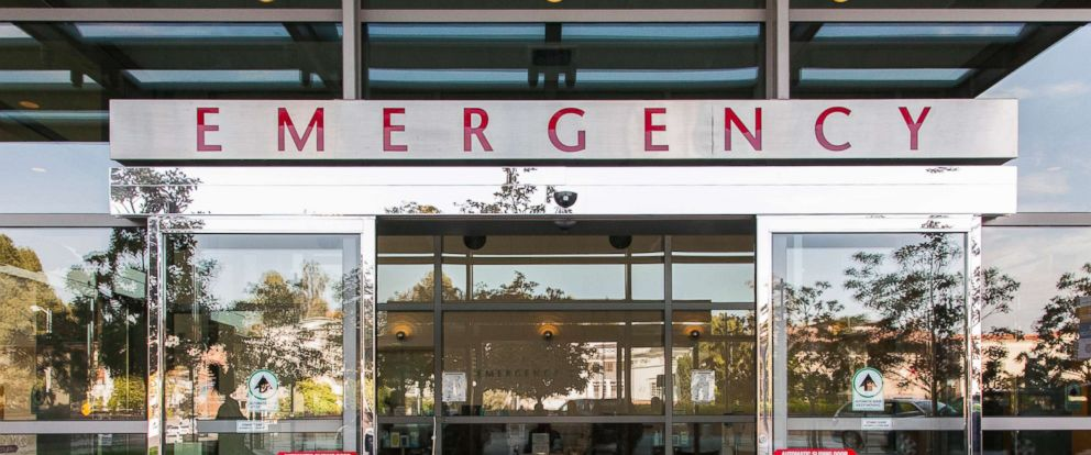 PHOTO: Sliding doors of a hospital emergency room are pictured in this undated stock photo.