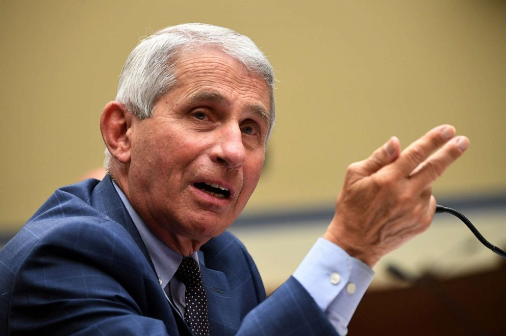 PHOTO: Dr. Anthony Fauci, director of the National Institute for Allergy and Infectious Diseases, testifies during the House Select Subcommittee on the Coronavirus Crisis hearing in Washington, D.C., on July 31, 2020.