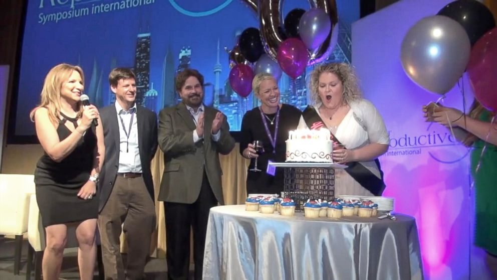 Louise Joy Brown celebrated her 40th birthday at the Midwest Reproductive Symposium International in Chicago in June.