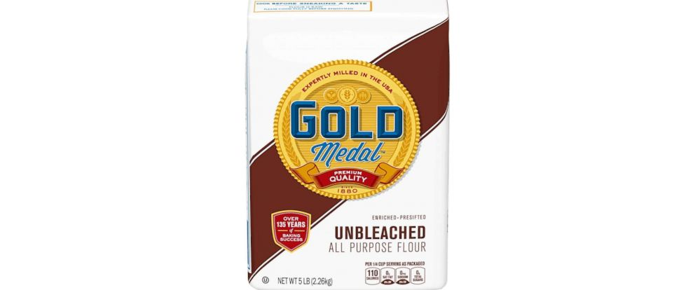 PHOTO: General Mills announced today a voluntary national recall of five-pound bags of its Gold Medal Unbleached Flour with a better if used by date of April 20, 2020.