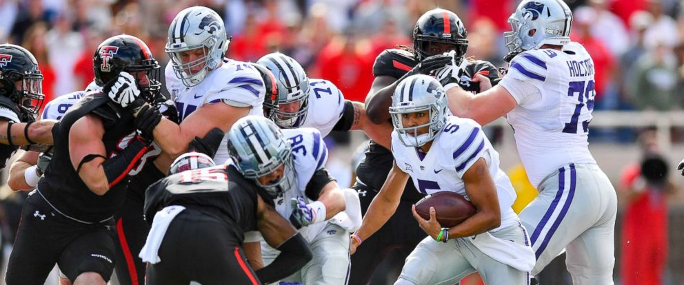 PHOTO: The Kansas State Wildcats play against the Texas Tech Red Raiders at the Jones AT&T Stadium in Lubbock, Texas, Nov. 4, 2017.