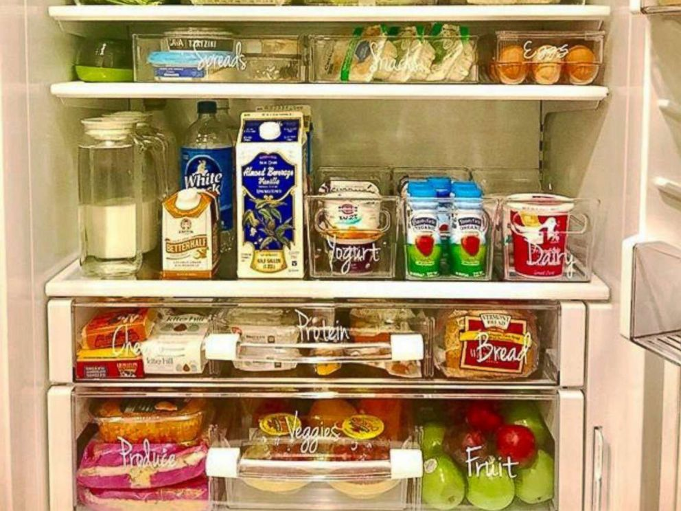 Photo The Food Fix Founder Heather Bauer Organizes Her Refrigerator Using Bins And Labels