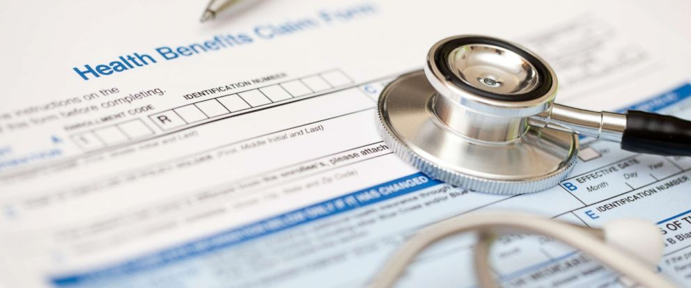 PHOTO: This stock photo depicts a hospital bill and stethoscope.
