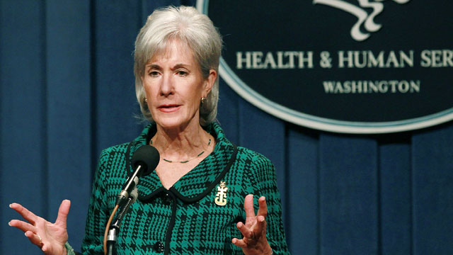 PHOTO: Health and Human Services Secretary Kathleen Sebelius speaks during a news conference, Nov. 14, 2011 in Washington, DC.