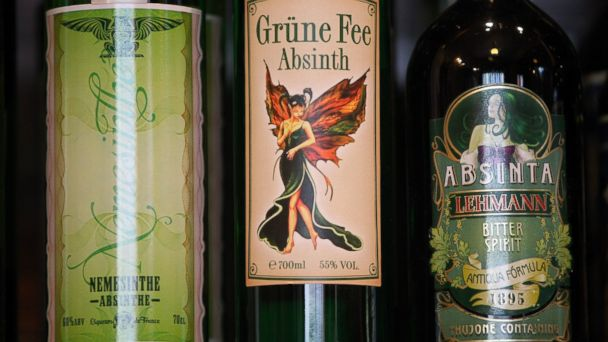 PHOTO: Bottles of absinthe sit on a shelf for sale at the Absinth Depot shop on March 15, 2013 in Berlin, Germany.