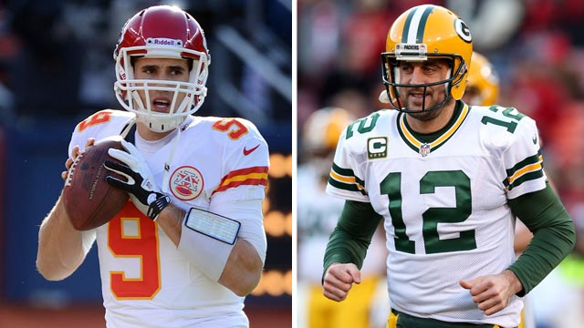 PHOTO: NFL Draft Pick Brady Quinn Aaron Rodgers