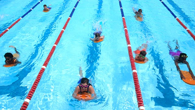 PHOTO: Children learning to swim