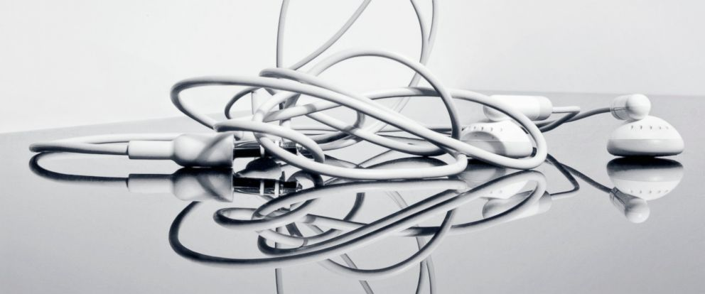 PHOTO: A British scientists says hes solved the mystery of tangled headphones.