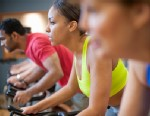 PHOTO: Woman in spin class