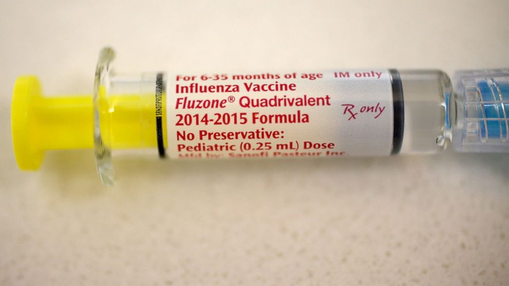 This year's flu vaccine isn't as effective as in previous years because the virus mutated after the shot was manufactured. Pictured: An influenza vaccination is prepared for a child at the Miami Children's Hospital on Jan. 7, 2015 in Coral Gables, Fla.