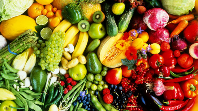 PHOTO: Assorted fruit and vegetables.