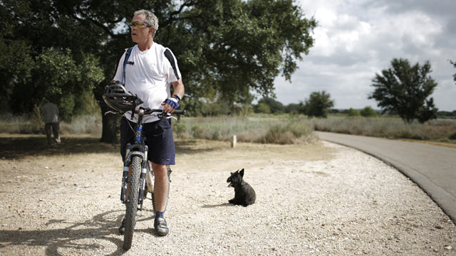 PHOTO: President Bush vacations on his ranch on August 24, 2007 in Crawford, Texas.