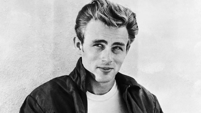 PHOTO: James Dean, leaning against a wall on the set of director Nicholas Rays film, Rebel Without a Cause, 1955.