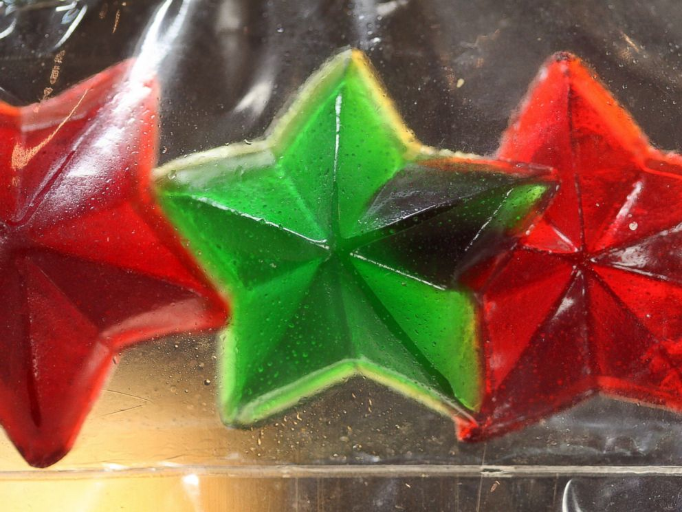 PHOTO: Gummy candy stars made of marijuana are seen at Perennial Holistic Wellness Center medical marijuana dispensary, on July 25, 2012 in Los Angeles.