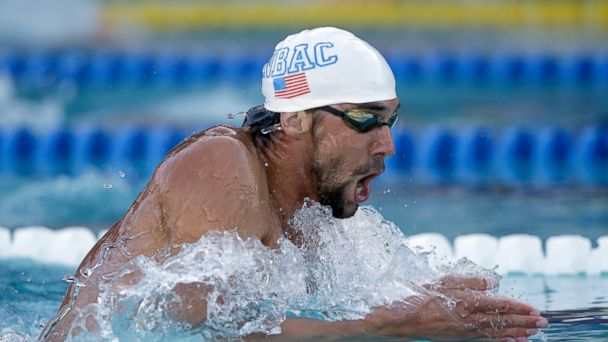 PHOTO: Michael Phelps swims the breaststroke in the mens 200 meter IM final at the George F. Haines International Swim Center on June 22, 2014 in Santa Clara, California.