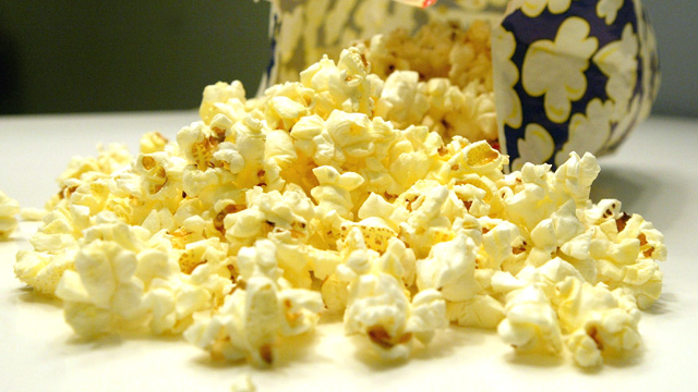 PHOTO: A bag of microwave popcorn is shown.