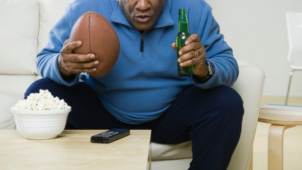 PHOTO: A man watching football in this undated stock photo.