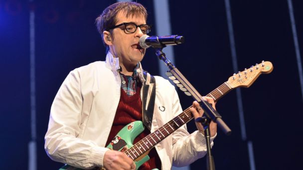 PHOTO: Rivers Cuomo of Weezer performs at Americas Cup Pavilion, July 25, 2013 in San Francisco, Calif.