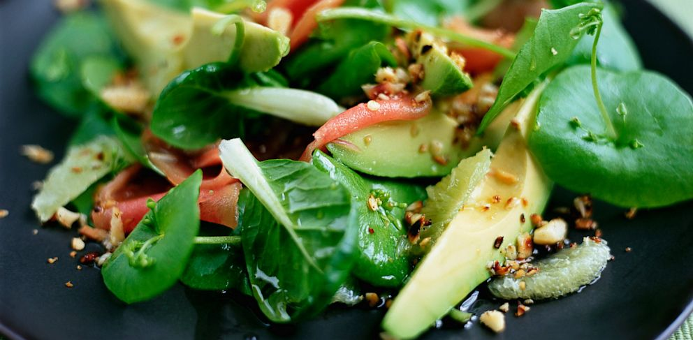 PHOTO: A spinach salad can boost your mood.