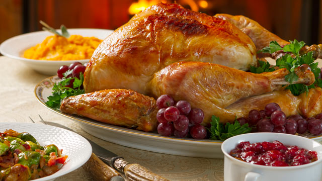PHOTO: A Turkey dinner with side dished for Thanksgiving is seen in this undated stock photo.