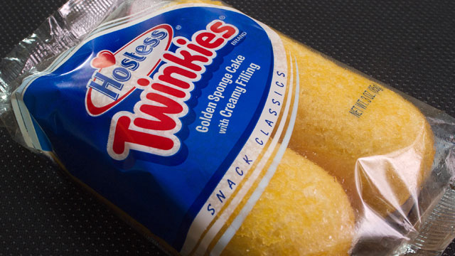 PHOTO: A photo of a twin pack of Hostess Twinkies is viewed in Washington,DC.
