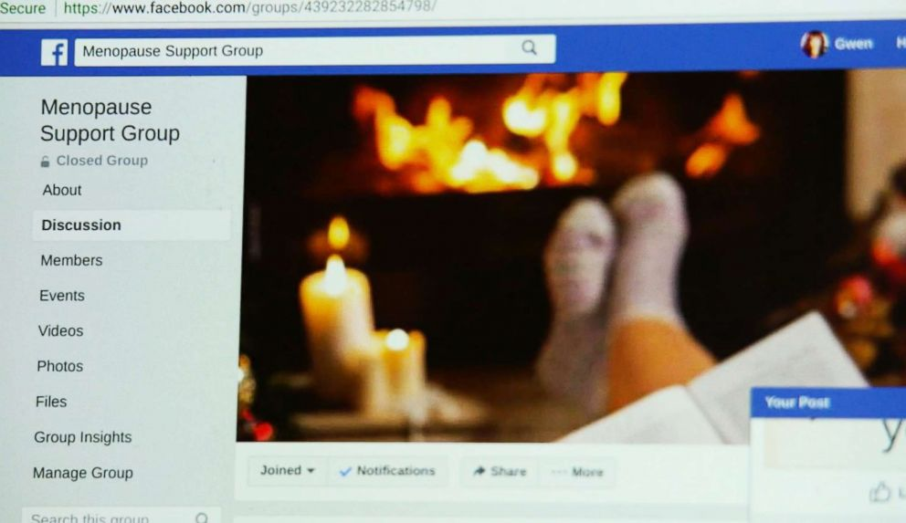 PHOTO: Gwen Harris, 59, started a Facebook group for women with menopause.
