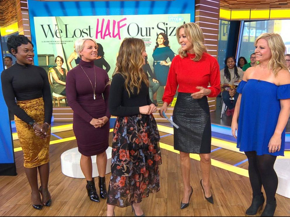 PHOTO: Melody Perdue, left, Morgan Root, second from left, and Sara Cloutier, right appear on ABCs Good Morning America with their stories of weight loss.