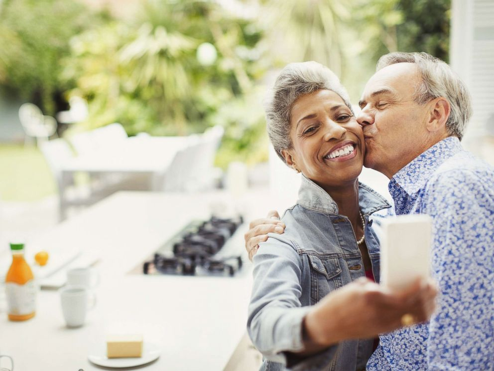 PHOTO: In this undated stock image, shows a happy older couple, depicting that marriage may lead to a different level of social engagement and interpersonal interaction.