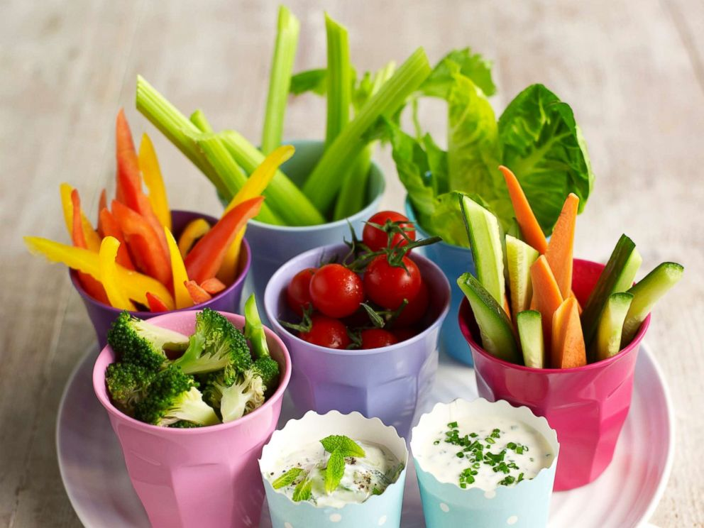 PHOTO: A plate of crudites and dips appear in this undated stock photo.