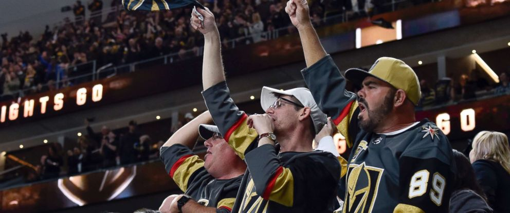 PHOTO: Fans cheer on the Vegas Golden Knights against the Colorado Avalanche during the game at T-Mobile Arena, March 26, 2018, in Las Vegas, Nevada.