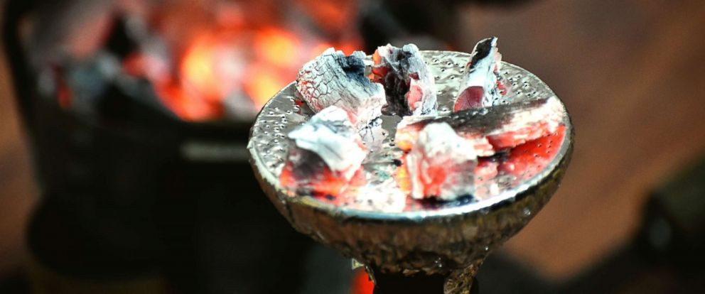 PHOTO: Coals burning on a hookah.
