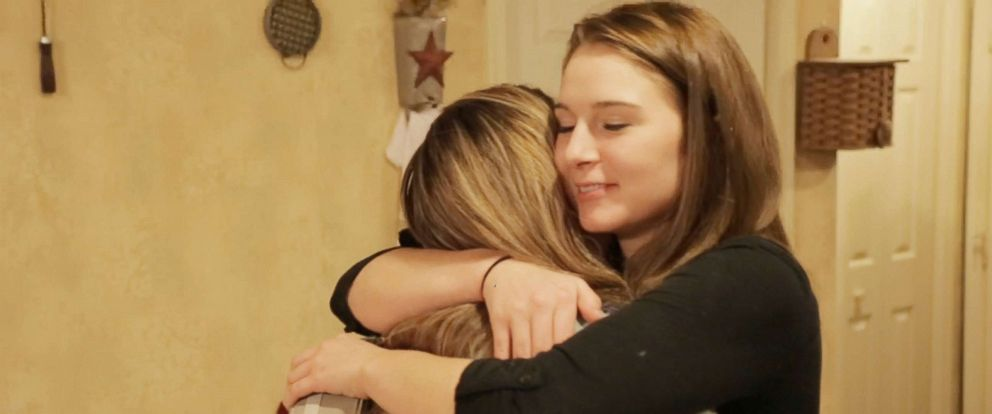 PHOTO: Hope Steele hugs her mom Cheryl Festerman, a nurse who was working in the emergency room the night Steele overdosed on heroin on Dec. 11, 2017, in Martinsburg, W.Va.