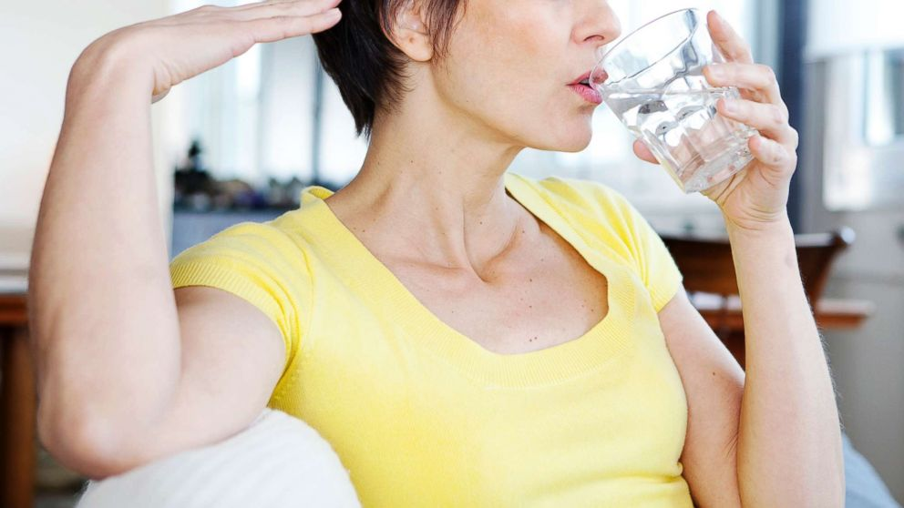 PHOTO: A woman is pictured having a hot flash in this undated stock photo.