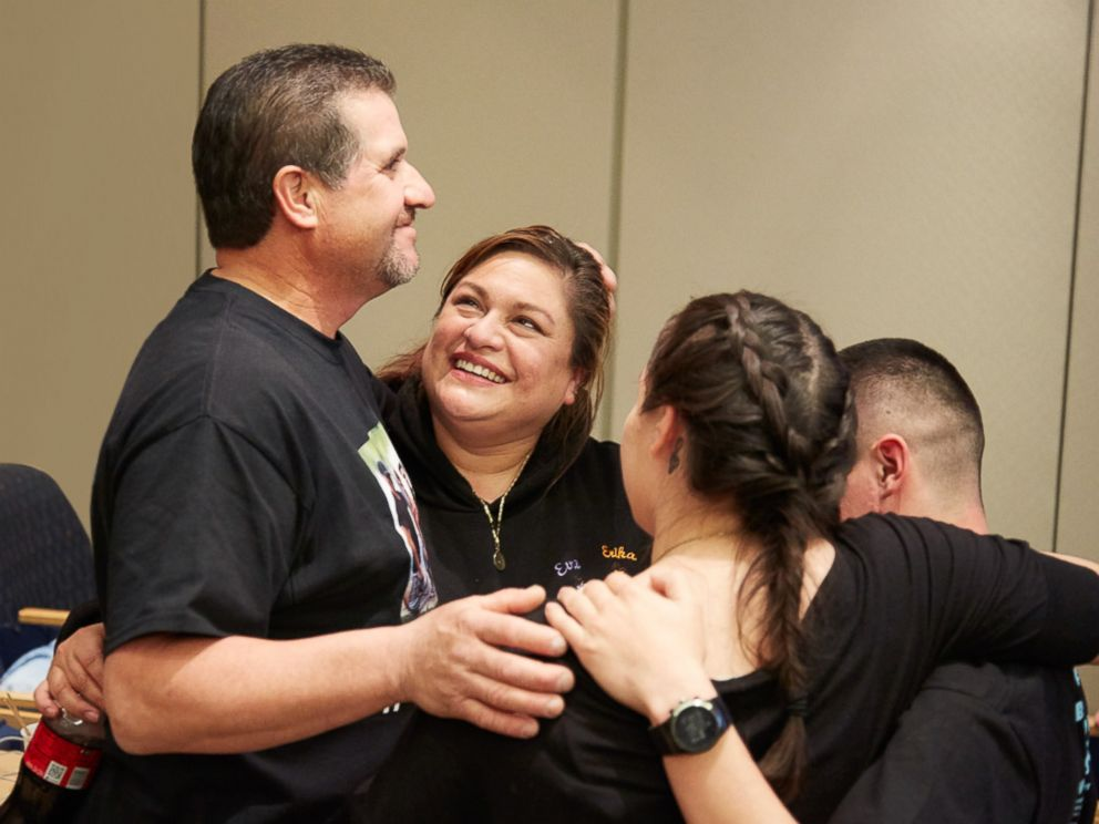 PHOTO: The girls family celebrated after the successful operation.