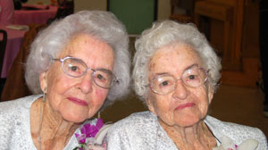 PHOTO Identical twin sisters Inez Harries and Venice Shaw from California celebrated their 100th birthdays on Jan. 15, 2011. Watch their story on ?Nightline.?