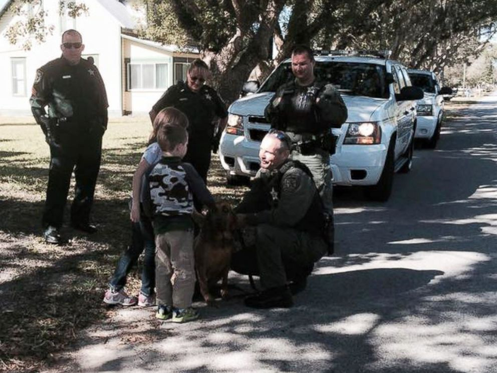 PHOTO: The local Sheriffs department helps Glenn Buratti celebrate his sixth birthday.